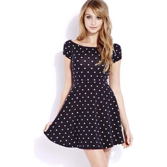 Polka dot skater dress e8f8a34ef